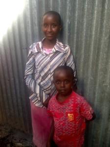 Sister Ruth and brother David